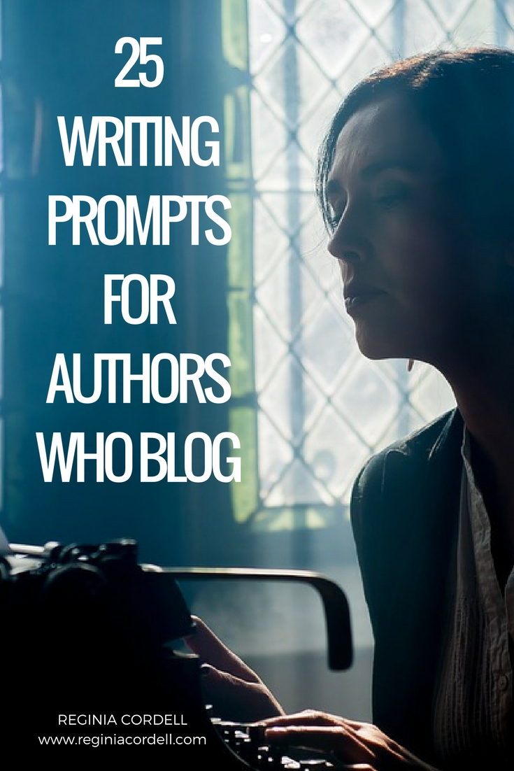 25 writing prompts for independent authors who blog